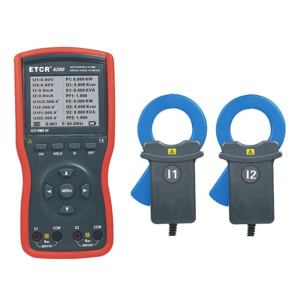 ETCR4200大口径双钳数字相位伏安表-电力测试仪表-铱泰电子科技