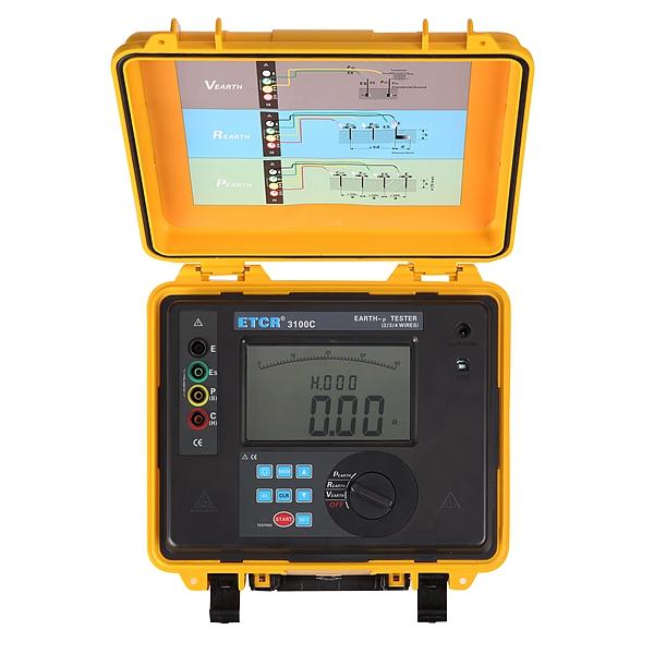 ETCR3100C Earth Resistance Soil Resistivity Tester - ETCR