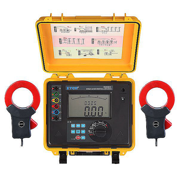 ETCR3200C Double Clamp Multi-function Earth Resistance Tester - ETCR