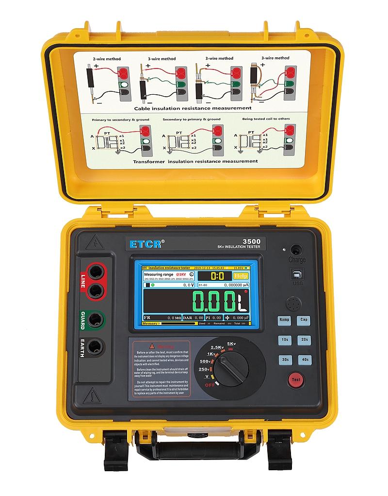 ETCR3500 High Voltage Insulation Resistance Tester