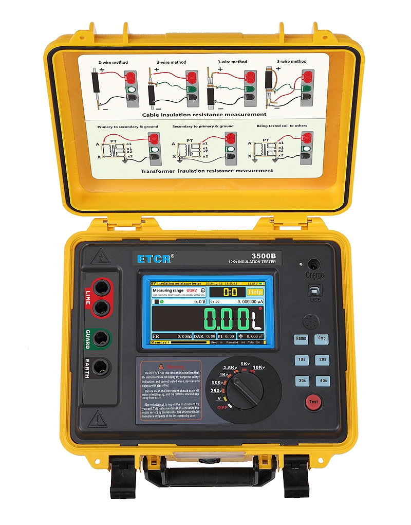 ETCR3500B High Voltage Insulation Resistance Tester