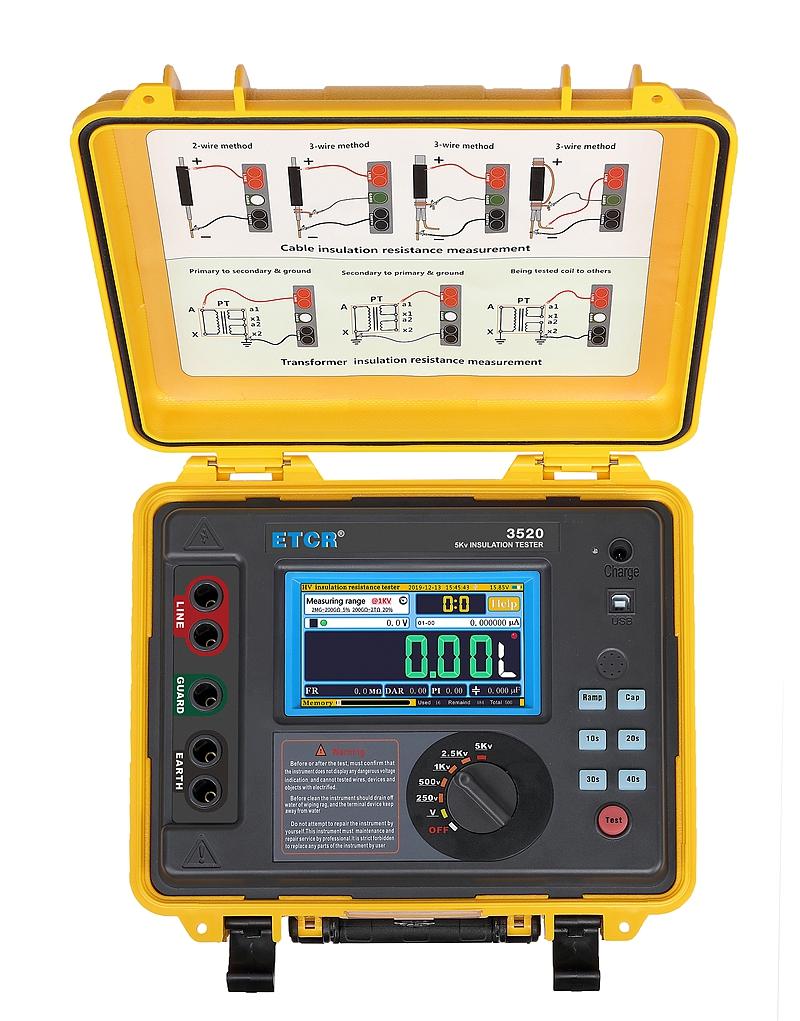 ETCR3520 High Performance HV Insulation Resistance Tester