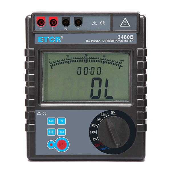 ETCR 3480B Insulation Resistance Tester