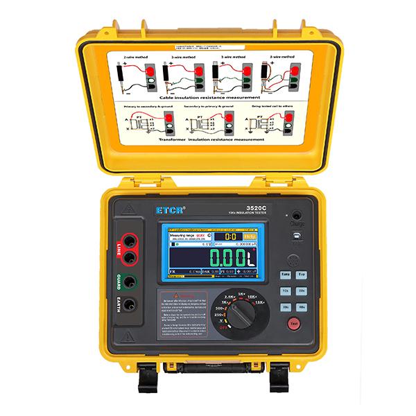 ETCR 3520C High Performance HV Insulation Resistance Tester