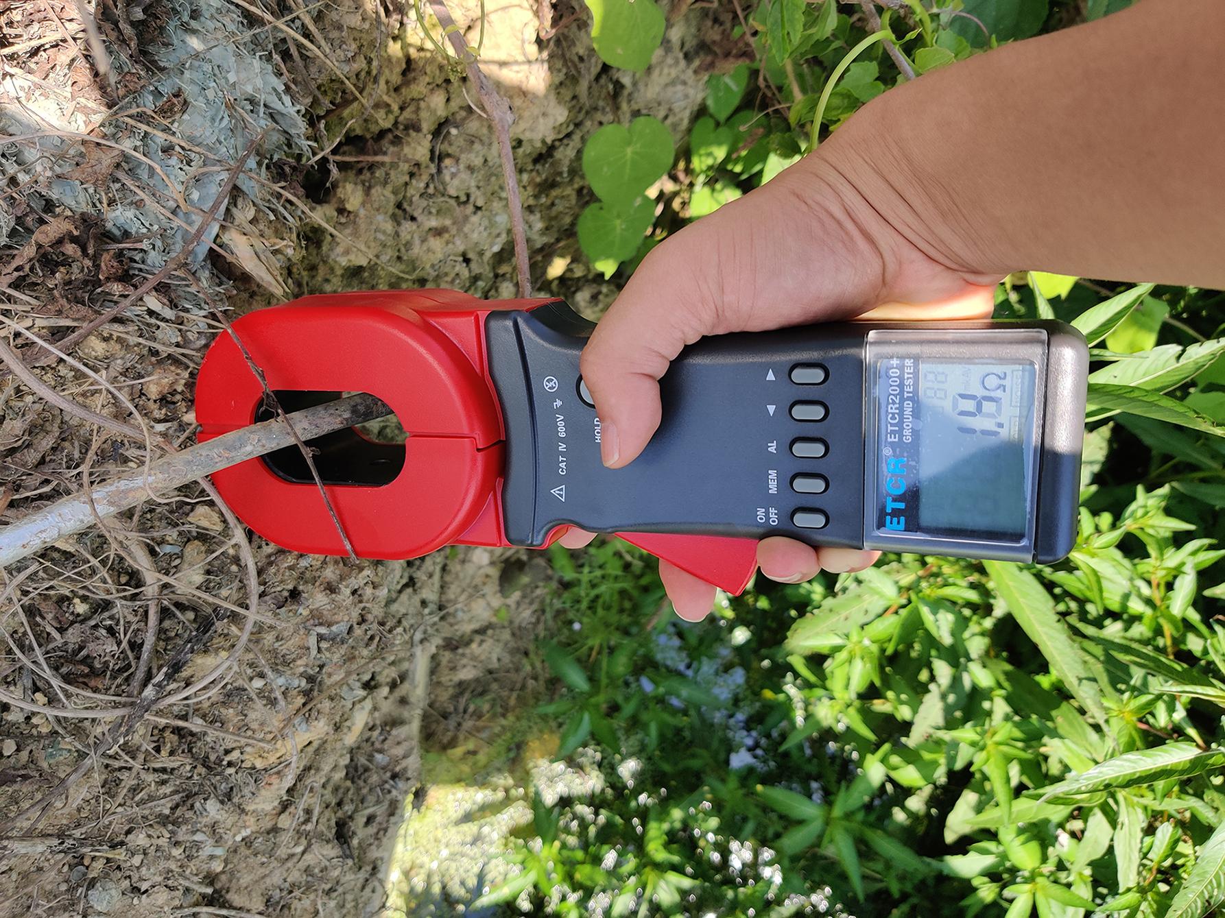 现场测试-ETCR接地电阻测试仪应用测试