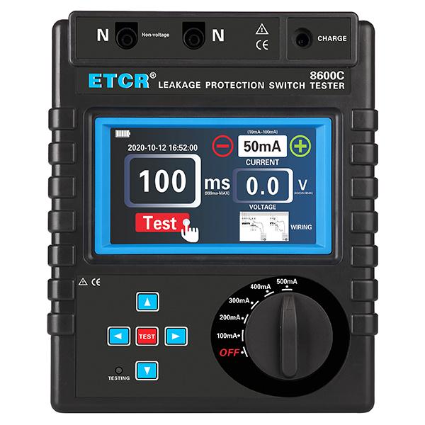 ETCR8600C 漏电保护器测试仪