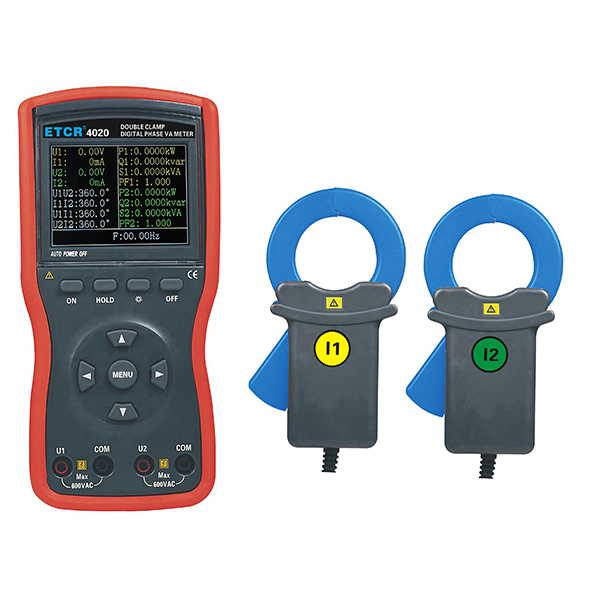 ETCR4020大口径双钳数字相位伏安表-电力测试仪表-铱泰电子科技