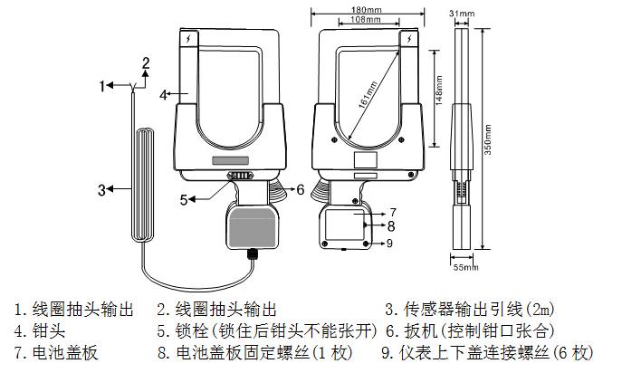 ETCR148超大口径钳形漏电流/电流传感器