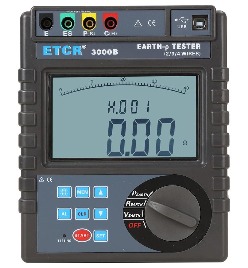 ETCR3000B接地电阻土壤电阻率测试仪-接地电阻/绝缘电阻测试仪-铱泰电子科技