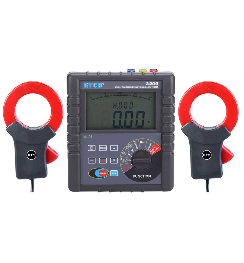 ETCR3200 Double Clamp Multi-function Grounding Resistance Tester+etcr