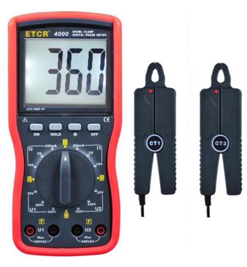 ETCR4000双钳数字相位伏安表-电力测试仪表-铱泰电子科技