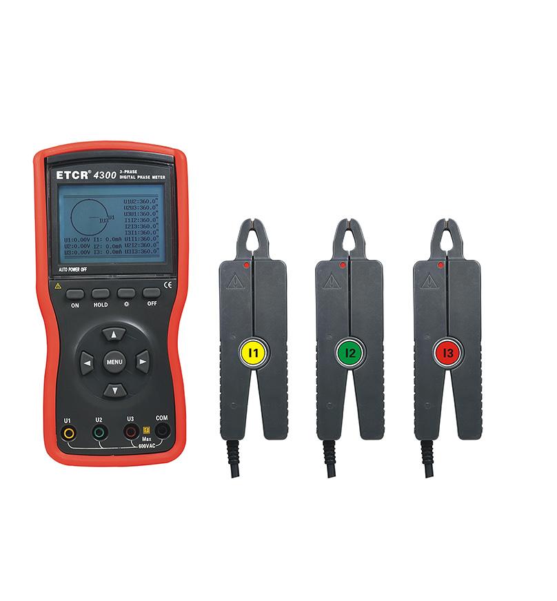 ETCR4300 Intelligent Double Clamp Digital Phase Volt-Ampere Meter