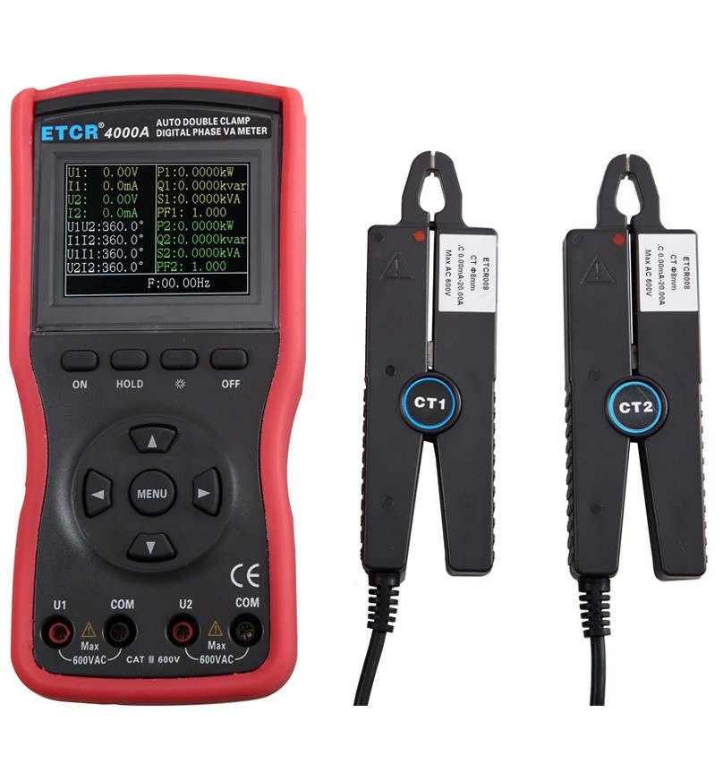 ETCR4000A Intelligent Double Clamp Digital Phase Voltmeter -ETCR