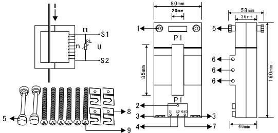 ETCR085K Separate large-diameter leakage current sensor
