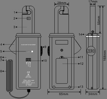 ETCR007AD AC/CD leakage clamp current sensor