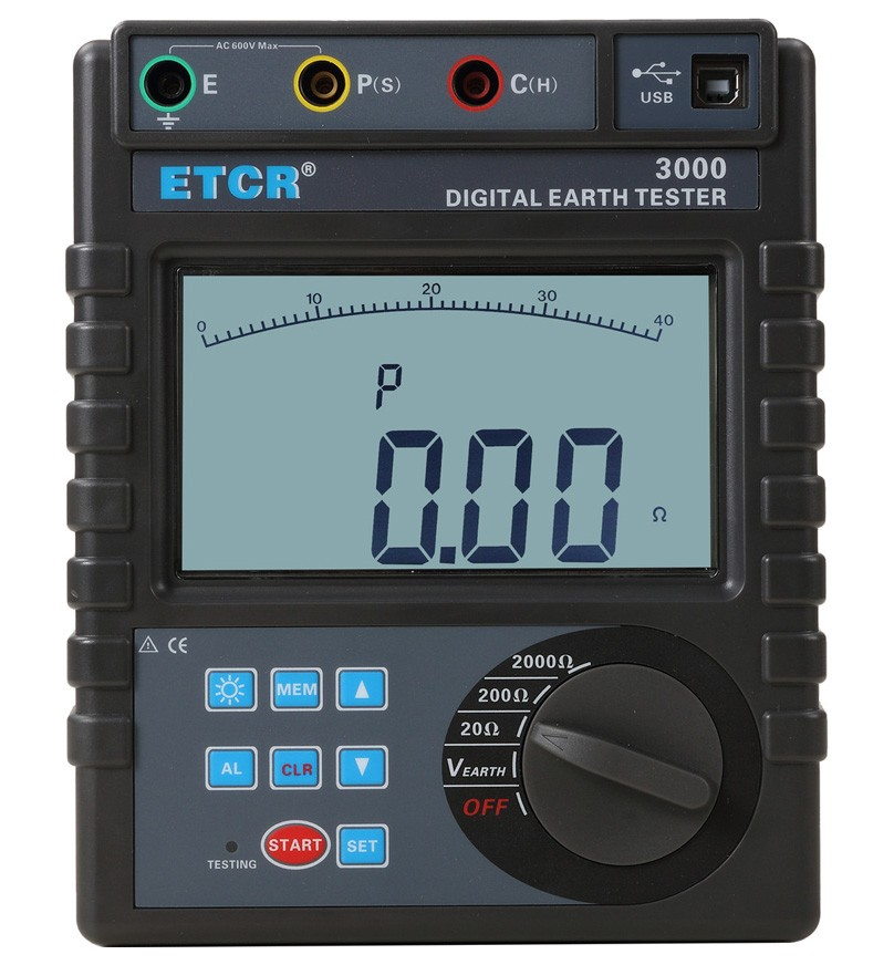 ETCR3000 Digital Earth Resistance Tester